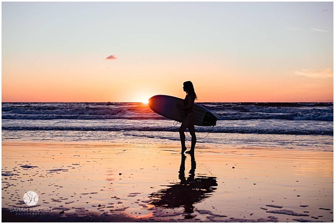 Sunrise surf shot during her senior session with her high school Senior Photographer.