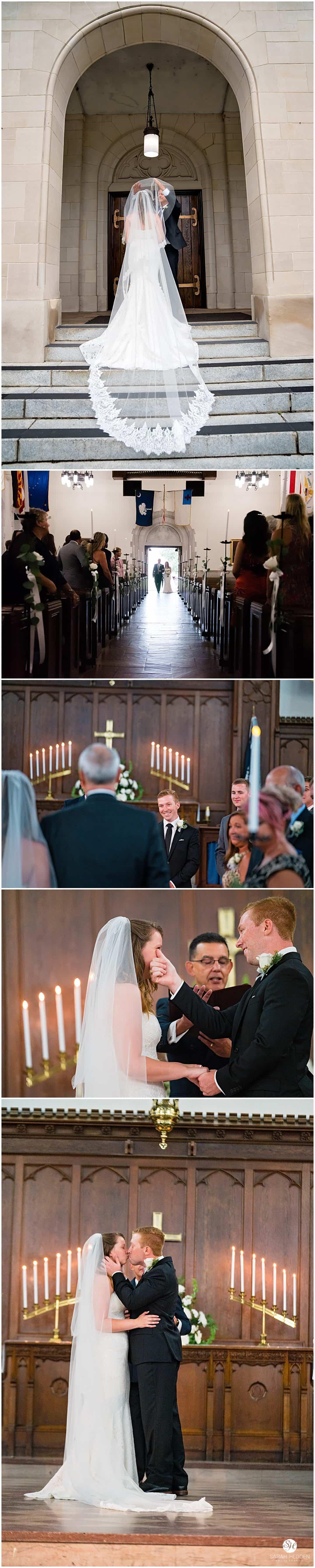 Bride and groom portraits at the Citadel at Bridgette and Jonathon's Wedding in Charleston