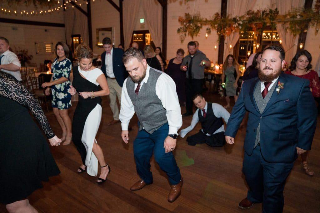 Groom dancing at Ari and Ryan's Pippin Hill Farms Wedding.