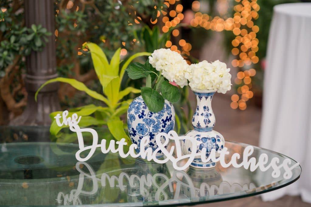 Dutch and dutchess sign at Heather and Jelmer's Utah Wedding
