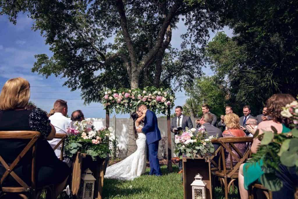 You may kiss the bride at Brooke and Josh's New Smyrna Beach Wedding